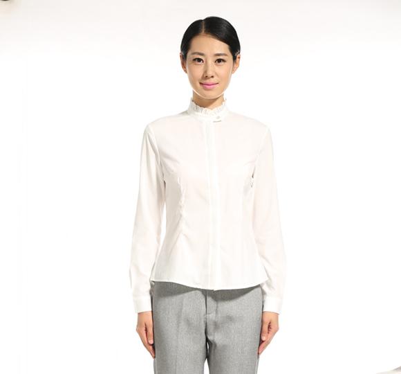 重庆女士立领长袖衬衫万博mantex官网