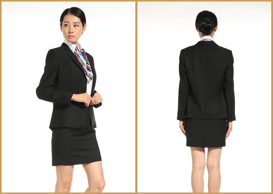 女士西装套裙(黑色)万博mantex官网