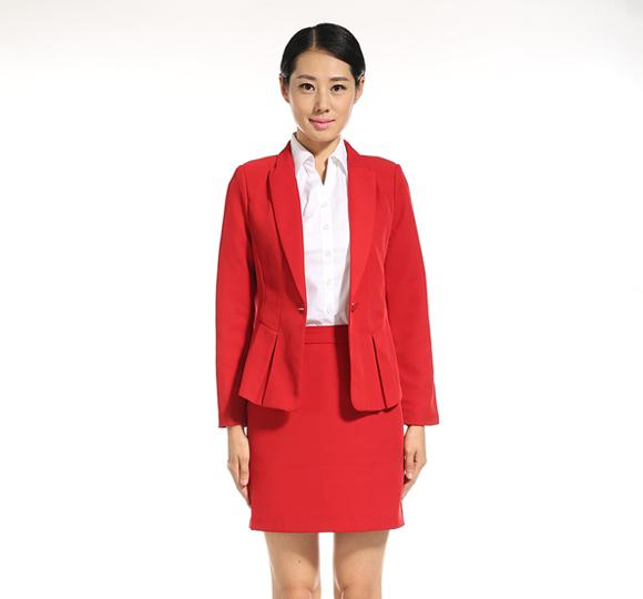 重庆女士西装套裙(红色)万博mantex官网