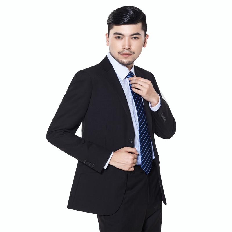 重庆黑色仿毛韩版男士西装万博mantex官网