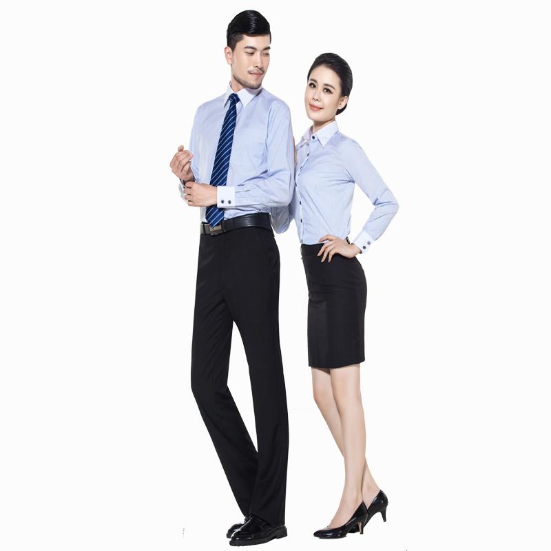 重庆女长袖蓝条纹正规领衬衫万博mantex官网